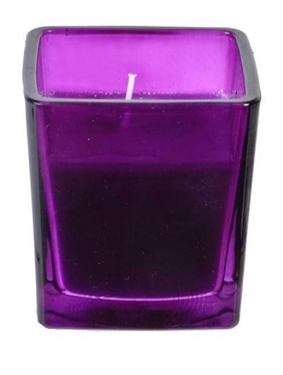Lumanare parfumata in pahar, 7x7.5 cm, mov, Topi Dreams