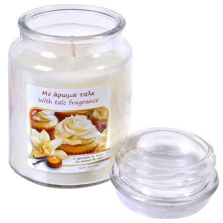 Lumanare parfumata in borcan cu capac, alba, 6.5x9.5 cm,Topi Dreams