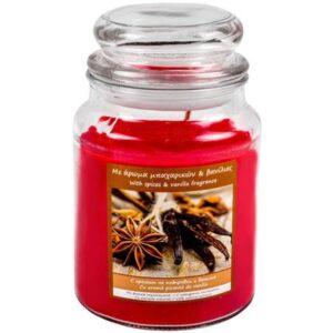 Lumanare parfumata in borcan cu capac, 6.5x9.5 cm, Topi Dreams